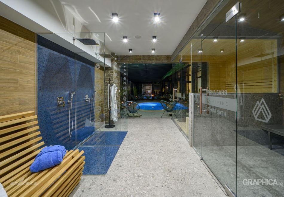 Нощувка със закуска на човек + басейн с подсолена вода и СПА в Семеен Хотел 103 Алпин, Паничище, снимка 25