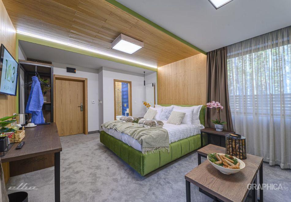 Нощувка със закуска на човек + басейн с подсолена вода и СПА в Семеен Хотел 103 Алпин, Паничище, снимка 11