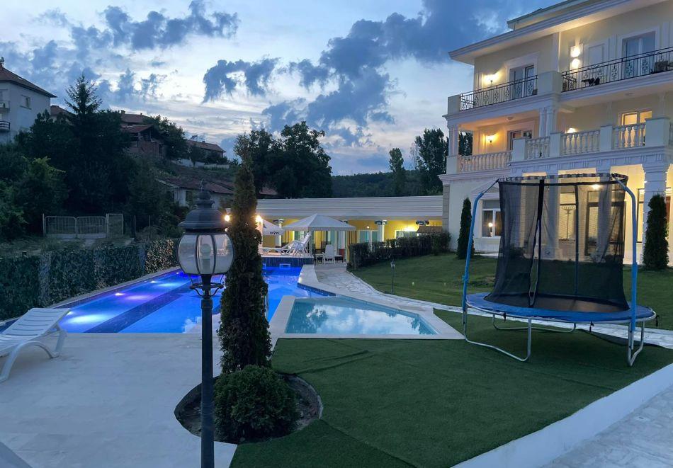 Нощувка на човек със закуска и вечеря + басейн с минерална вода и релакс зона от хотел Алексион Палас, Огняново, снимка 26