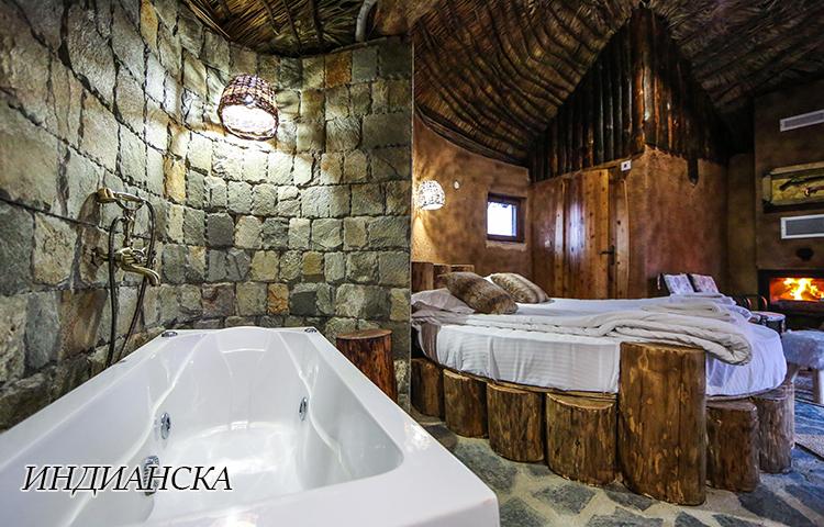Нощувка в еко къщичка със закуска на човек + басейн с минерална вода и релакс зона от хотел Роял Валентина Касъл, Огняново, снимка 14