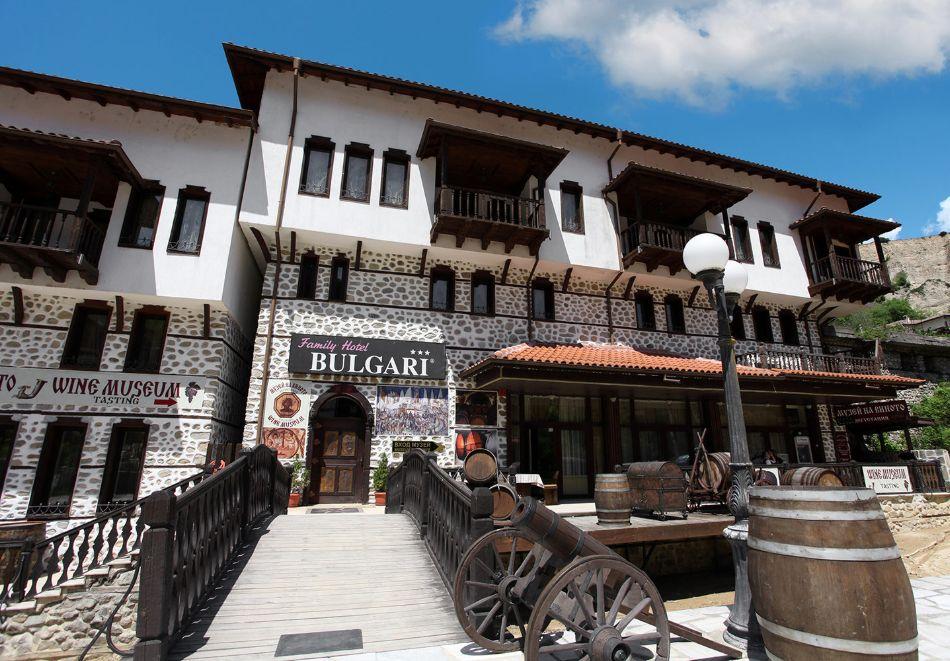 Нощувка на човек със закуска и вечеря + посещение на музея на виното в семеен хотел Булгари***, Мелник, снимка 2