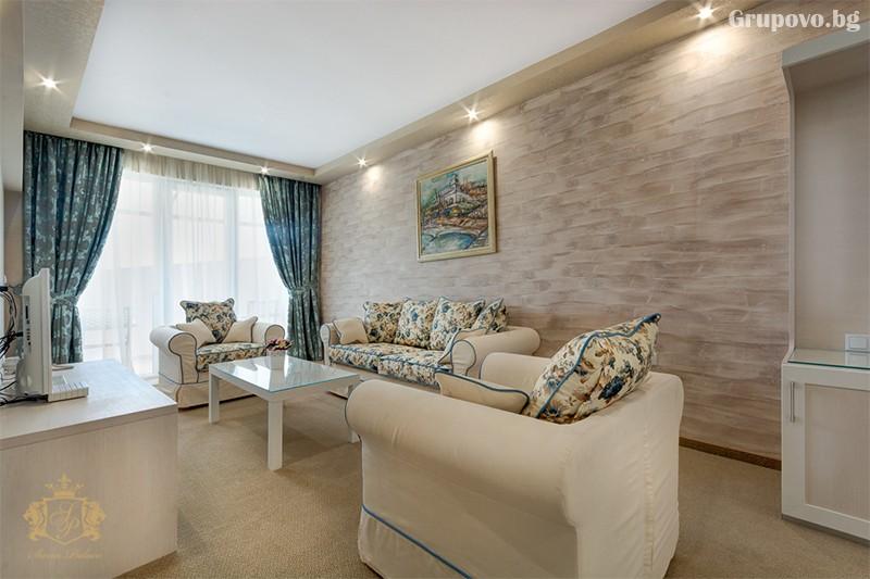 Нощувка на човек със закуска и вечеря + басейн и СПА зона от хотел Сиена палас****, Приморско, снимка 5